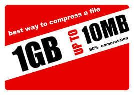 How to compress 1GB file upto 10MB [ 100% Working