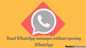 How to read WhatsApp messages without opening WhatsApp