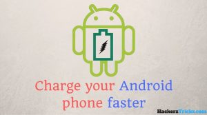 charge your Android phone faster