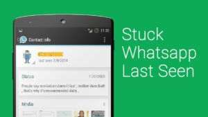 create fake last seen time on whatsapp