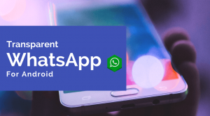 Download Transparent WhatsApp Antiban Apk for Android 2018
